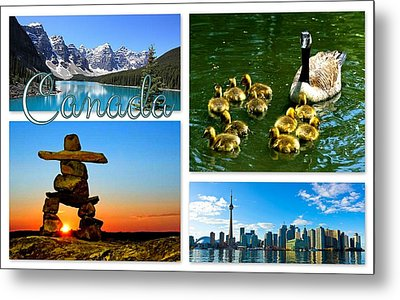 Canada Metal Print by The Creative Minds Art and Photography