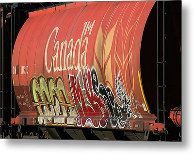 Canadian Graffitti Metal Print by Brian Sereda