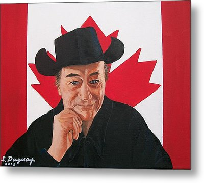 Canadian Icon Stompin' Tom Conners  Metal Print