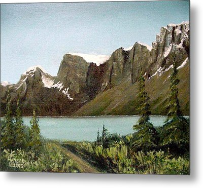 Metal Print featuring the mixed media Canadian Lake by Kenny Henson