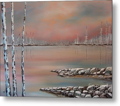 Canadian Northern Reflections Metal Print by Beverly Livingstone
