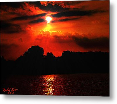 Canadian Sunrise Metal Print by Michael Rucker