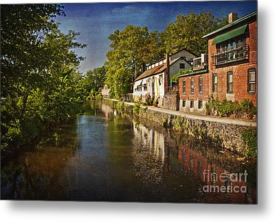 Metal Print featuring the photograph Canal Along The Porkyard by Debra Fedchin