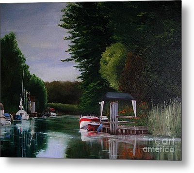 Canal At Dawn Metal Print by Ronald Tseng