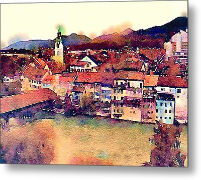 Canal At Thurgau Metal Print by Susan Maxwell Schmidt