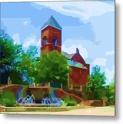 Canal Church Metal Print