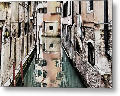 Metal Print featuring the digital art Canal In Venice by Kai Saarto