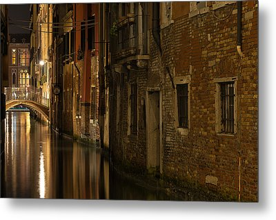 Canal Reflections Metal Print by Marion Galt