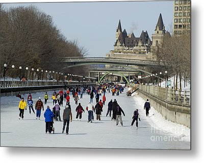 Canal Skate II Metal Print by Jessie Parker