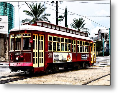 Canal Street Car Metal Print by Bill Cannon