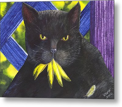 Canary? Metal Print by Catherine G McElroy