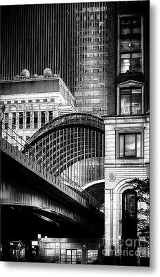 Canary Wharf Noir3 Metal Print by Jack Torcello