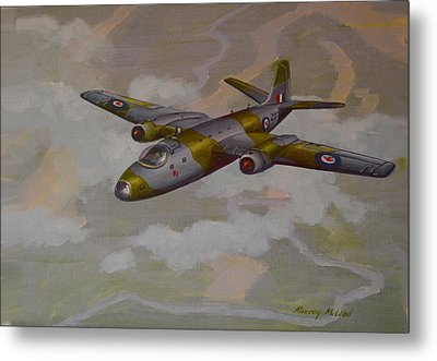 Metal Print featuring the painting Canberra Sortie by Murray McLeod