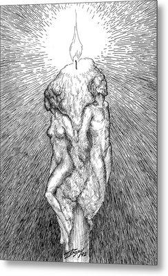 Candle Metal Print by Boyan Donev