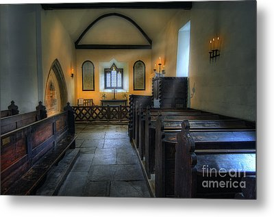 Candle Church Metal Print by Ian Mitchell