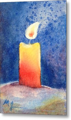 Candle Glow Metal Print by Marilyn Jacobson