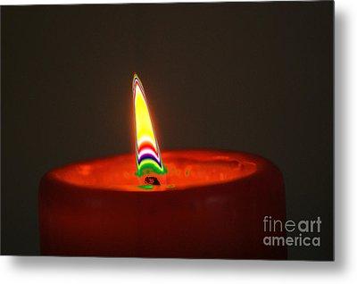 Candle Light Metal Print by Carol Lynch