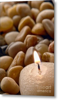Candle On The Rocks Metal Print by Olivier Le Queinec