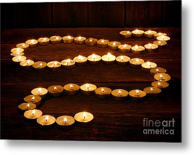 Candle Path Metal Print by Olivier Le Queinec