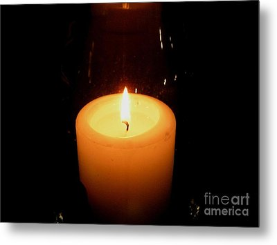 Candlelight Moments Metal Print by Joseph Baril