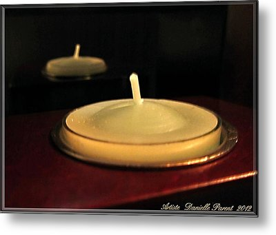 Candles And Relaxation Metal Print by Danielle  Parent