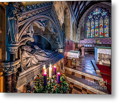 Candles At Christmas Metal Print by Adrian Evans