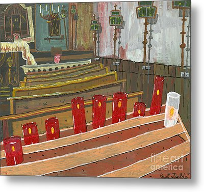 Candles In Cinque Terra Metal Print