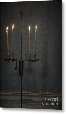 Candles In The Dark Metal Print