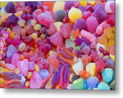 Candlyland Gumdrops Metal Print by Alixandra Mullins