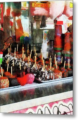 Candy Apples Metal Print by Susan Savad