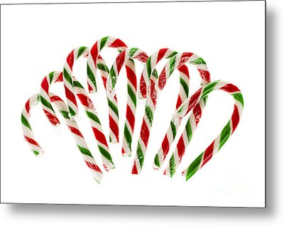 Candy Canes Metal Print by Elena Elisseeva