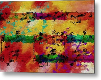 Metal Print featuring the digital art Candy-coated Chords 2 by Lon Chaffin