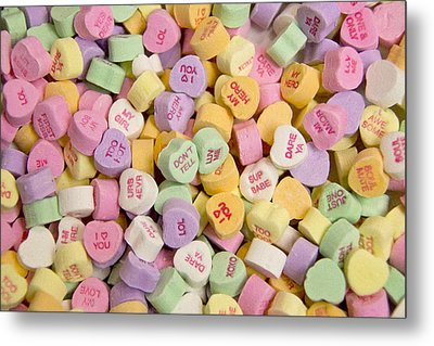 Candy Heart Message 2 Metal Print by Regina  Williams