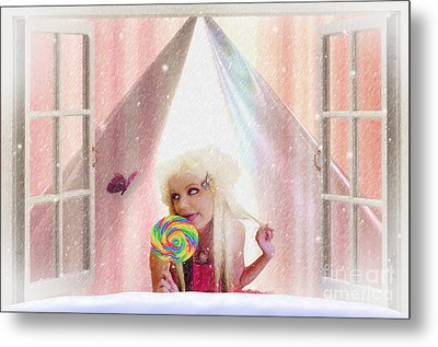 Metal Print featuring the digital art Candy Kisses by Liane Wright