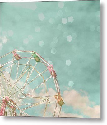 Candy Wheel Metal Print by Cassia Beck