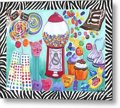 Candy Window Metal Print by Carla Bank