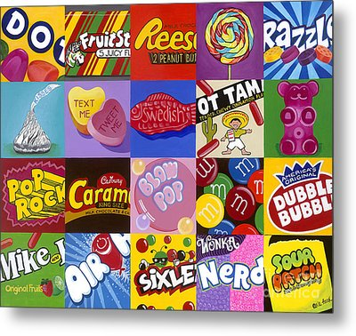 Candy Wrappers Metal Print by Carla Bank