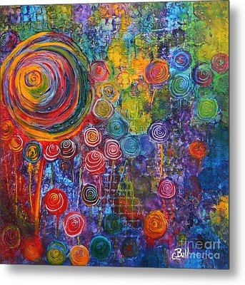 Candyland Metal Print by Claire Bull