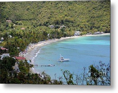 Cane Garden Bay Tortola Metal Print by Birgit Tyrrell