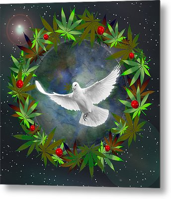 Cannabis Around The World Metal Print