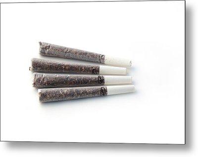 Cannabis Cigarettes Metal Print by Adam Hart-davis