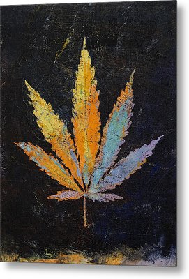 Cannabis Metal Print by Michael Creese