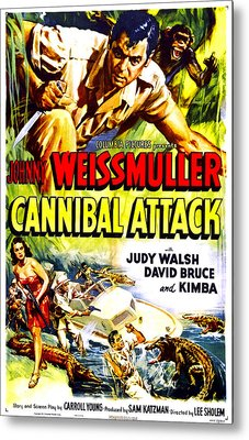 Cannibal Attack, Us Poster, Johnny Metal Print by Everett