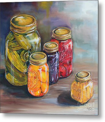 Canning Jars Metal Print by Kristine Kainer