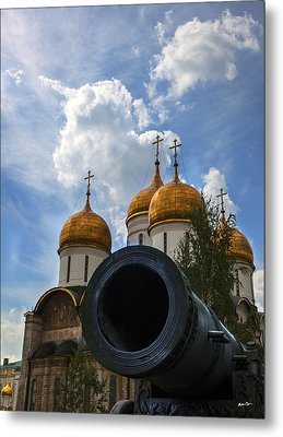 Cannon And Cathedral  - Russia Metal Print