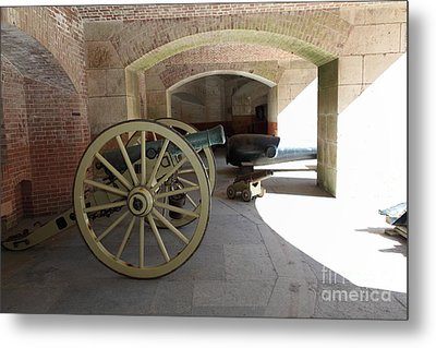 Cannon At San Francisco Fort Point 5d21495 Metal Print by Wingsdomain Art and Photography
