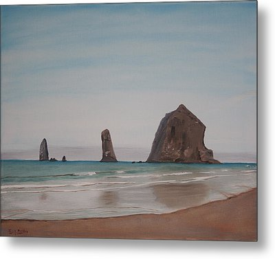 Cannon Beach Haystack Rock Metal Print