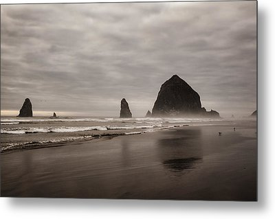 Cannon Beach Needles Metal Print