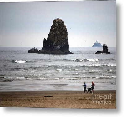 Cannon Beach Run Metal Print