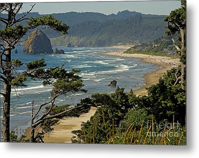 Metal Print featuring the photograph Cannon Beach Seascape by Nick  Boren